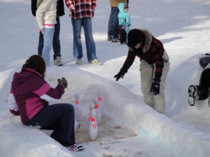 Snow Bowling in Rexburg