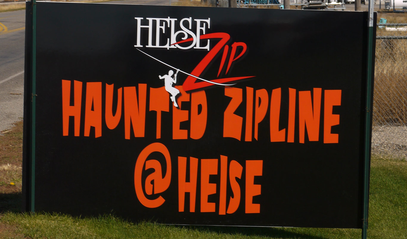 haunted zipline in Heise - South of Rexburg Idaho
