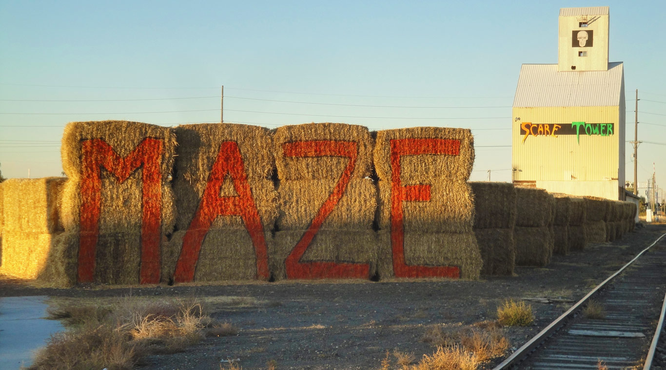 Scare Tower Straw Maze in Rexburg Idaho