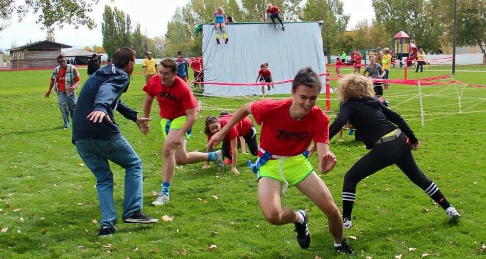 zombie chase race in rexburg